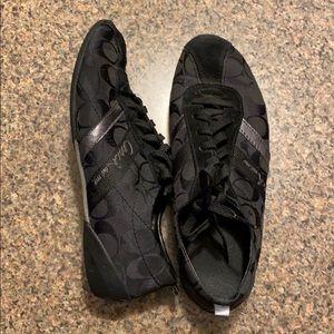 Coach Sneakers, black, women's 9